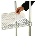 Shelf Liners For Wire Shelving, Clear Plastic, 48w x 24d, 4/Pack