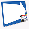Stake Sign, Blank White with Printed Blue Arrow, 15 x 19