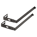 Adjustable Cubicle Hangers, Black, Set of Two