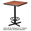 "Hospitality Table ""X"" Pedestal Base, 41"" High, Black"