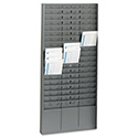 Steel Time Card Rack with Adjustable Dividers, 5