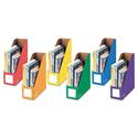 Cardboard Magazine File, 4 1/4 X 11 3/8 X 12 7/8, Assorted, 6/pk