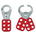 "Steel Lockout Hasp, Steel/Vinyl, 1 3/4"", Red"