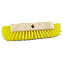 "Dual-Surface Scrub Brush, Plastic Fill, 10"" Long, Yellow"