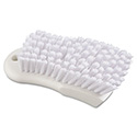 "Scrub Brush, White Polypropylene Fill, 6"" Long, White"