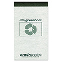 Little Green Book, Gray Cover, Narrow Rule, 3 x 5, White Paper, 60 Sheets