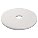 "Standard Polishing Floor Pads, 17"" Diameter, White, 5/carton"