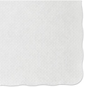 Knurl Embossed Scalloped Edge Placemats, 9 1/2 x 13 1/2, White, 1000/Carton