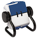 Open Rotary Card File Holds 250 1 3/4 x 3 1/4 Cards, Black