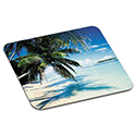 "Mouse Pad with Precise Mousing Surface, 9"" x 8"" x 1/8"", Beach Design"