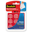 Restickable Mounting Tabs, 7/8 X 7/8, Clear, 18/pack