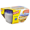 GladWare Deep Dish Food Storage Containers, 64 oz, 3/Pk, 6 Pk/Ctn