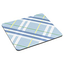 "Mouse Pad with Precise Mousing Surface, 9"" x 8"" x 1/5"", Plaid Design"