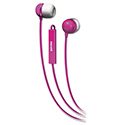 In-Ear Buds with Built-in Microphone, Pink