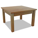 Alera Valencia Occasional Table, Square, 23-5/8 x 23-5/8 x 20-3/8, Medium Cherry