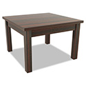 Alera Valencia Series Occasional Table, Square,23-5/8 x 23-5/8 x 20-3/8,Mahogany
