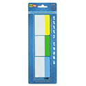 Write-On Self-Stick Index Tabs, 1 1/2 x 2, Blue, Green, Yellow, 30/Pack