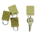 "Hook & Loop Fastener Replacement Key Tag, 1 1/4"", Square, Tan, 12/PK"
