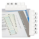 Side-Mount Self-Stick Plastic A-Z Index Tabs, 1 inch, White, 104/Pack