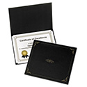 Certificate Holder, 11 1/4 X 8 3/4, Black, 5/pack