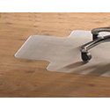PVC Chair Mat for Hard Floors, 36 x 48, 10 x 20 Lip, Clear