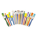 Starter Brush Set, Assorted Sizes/Colors, 25 Pieces/Set