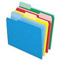 Colored File Folders, 1/3-Cut Tabs, Letter Size, Assorted, 24/Pack