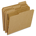 Kraft Fastener Folders, 1 Fastener, 1/3 Cut Tabs, Letter, 50/Box