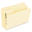 Fastener Folders, 1 Fasteners, 1/3 Cut Tabs, Legal, Manila, 50/Box