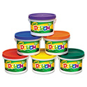 Modeling Dough Bucket, 3 lbs., Assorted, 6 Buckets/Set