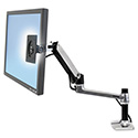 Lx Series Lcd Arm, Desk Mount, Polished Aluminum/black