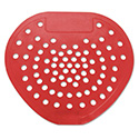 "Health Gards Vinyl Urinal Screen, 7 3/4""w x 6 7/8""h, Red, Cherry, Dozen"