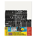 "Make-A-Poster Board Kit, 22"" x 28"", White, 143 Letters/Numbers"
