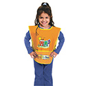Kraft Artist Smock, Fits Kids Ages 3-8, Vinyl, One Size Fits All, Bright Colors