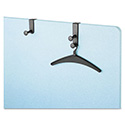"One-Post Over-The-Panel Hook with Garment Hanger, 1 1/2"" - 3"" Panels, Black"