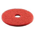 "Standard Buffing Floor Pads, 16"" Diameter, Red, 5/Carton"