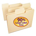 Supertab File Folders, 1/3 Cut Top Tab, Letter, Manila, 100/box