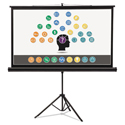 Wide Format Tripod Base Projection Screen, 45 x 80, White