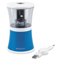Usb/battery Operated Pencil Sharpener, Blue, 5 7/8w X 3 1/8d X 8 1/2h
