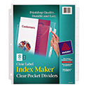 Index Maker Print & Apply Clear Label Sheet Protector Dividers, 8-Tab, Letter
