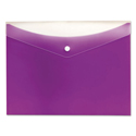 Poly Snap Envelope, 8 1/2 x 11, Grape