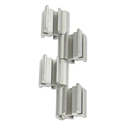Rumba™ Whiteboard Screen Accessories, Ganging Connector Set, Silver