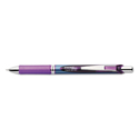 Energel Rtx Retractable Liquid Gel Pen, .5mm, Silver/violet Barrel, Violet Ink