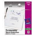 Top-Load Sheet Protector, Economy Gauge, Letter, Semi-Clear, 50/Box