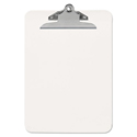 "Plastic Clipboard With High Capacity Clip, 1"" Capacity, Holds 8 1/2 X 12, Clear"