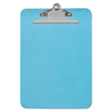 "Plastic Clipboard With High Capacity Clip, 1"" Capacity, Holds 8 1/2 X 12, Blue"