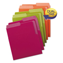 Organized Up Heavyweight Vertical File Folders, Assorted Bright Tones, 6/Pack