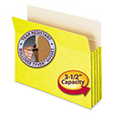 "3 1/2"" Exp Colored File Pocket, Straight Tab, Letter, Yellow"