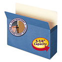 "5 1/4"" Exp Colored File Pocket, Straight Tab, Letter, Blue"