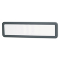 Recycled Cubicle Nameplate with Rounded Corners, 9 x 2 1/2, Charcoal